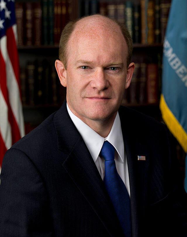 Chris Coons, sénateur démocrate de l'Etat du Delaware et président de la commission du Sénat en charge des affaires africaines.