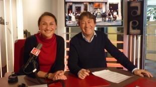 Íngrid Arriaga y Jordi Batallé en RFI