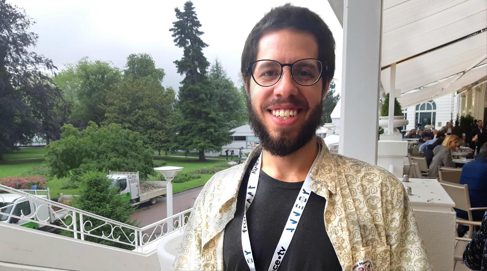 Diretor brasileiro Guto BR, presidente da Associação Brasileira de Cinema de Animação, em Annecy (ABCA), 11/06/2019