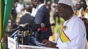 Le président malien Ibrahim Boubacar Keïta, ici lors de la fête nationale à Abuja au Nigeria, le 12 juin 2019. (Photo d'illustration)
