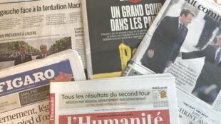 Capas dos diários franceses 09/05/2017