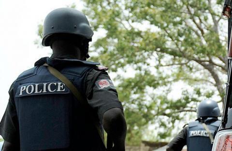Polisi wakipiga doria katika Jimbo la Kaduna, baada ya vurugu.