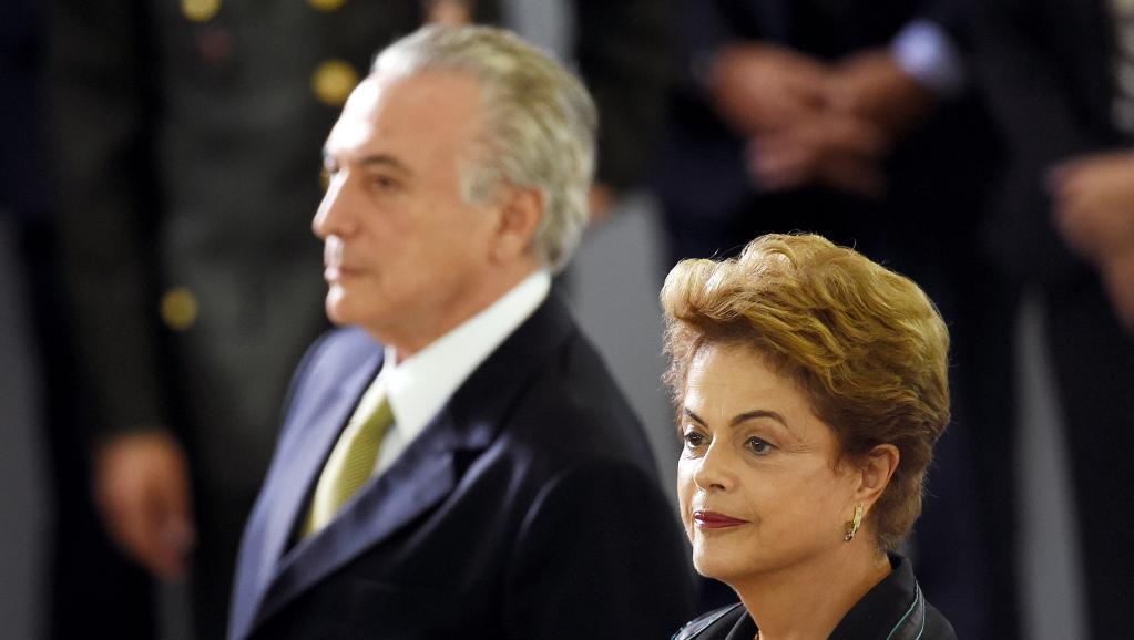O vice-presidente Michel Temer e Dilma Rousseff