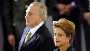 Makamu wa Rais Michel Temer na Rais Dilma Rousseff, Desemba16, 2015.