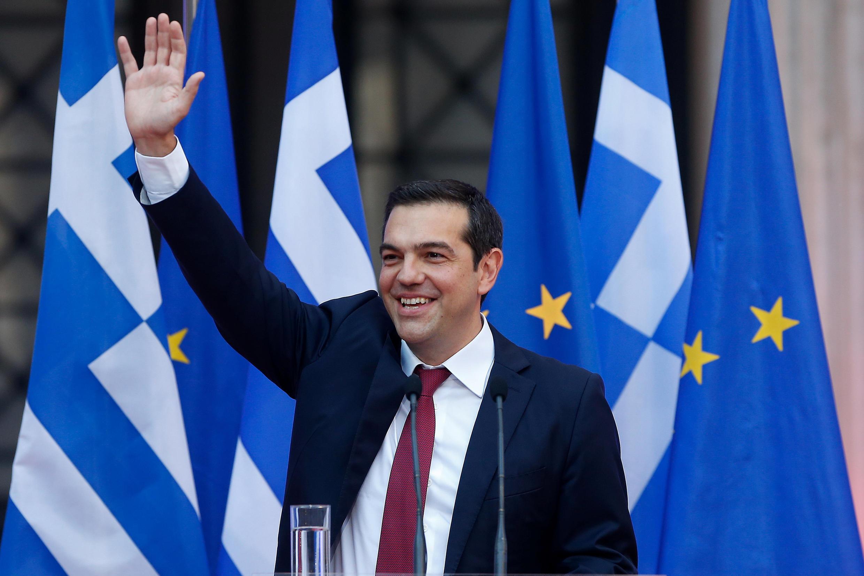 Alexis Tsipras devant les élus de Syriza et des élus indépendants, à Athènes, le 22 juin 2018.