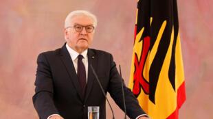 Tổng thống Đức Frank-Walter Steinmeier phát biểu truyền hình ngày 20/11/2017.
