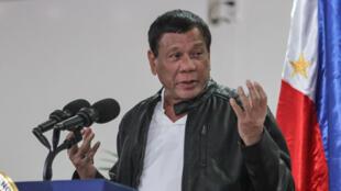 Tông thống Philippines Rodrigo Duterte phát biểu tại Davao, Philippines ngày 16/05/2017.