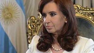 La présidente d'Argentine Cristina Fernández de Kirchner, le 16 juin 2014.