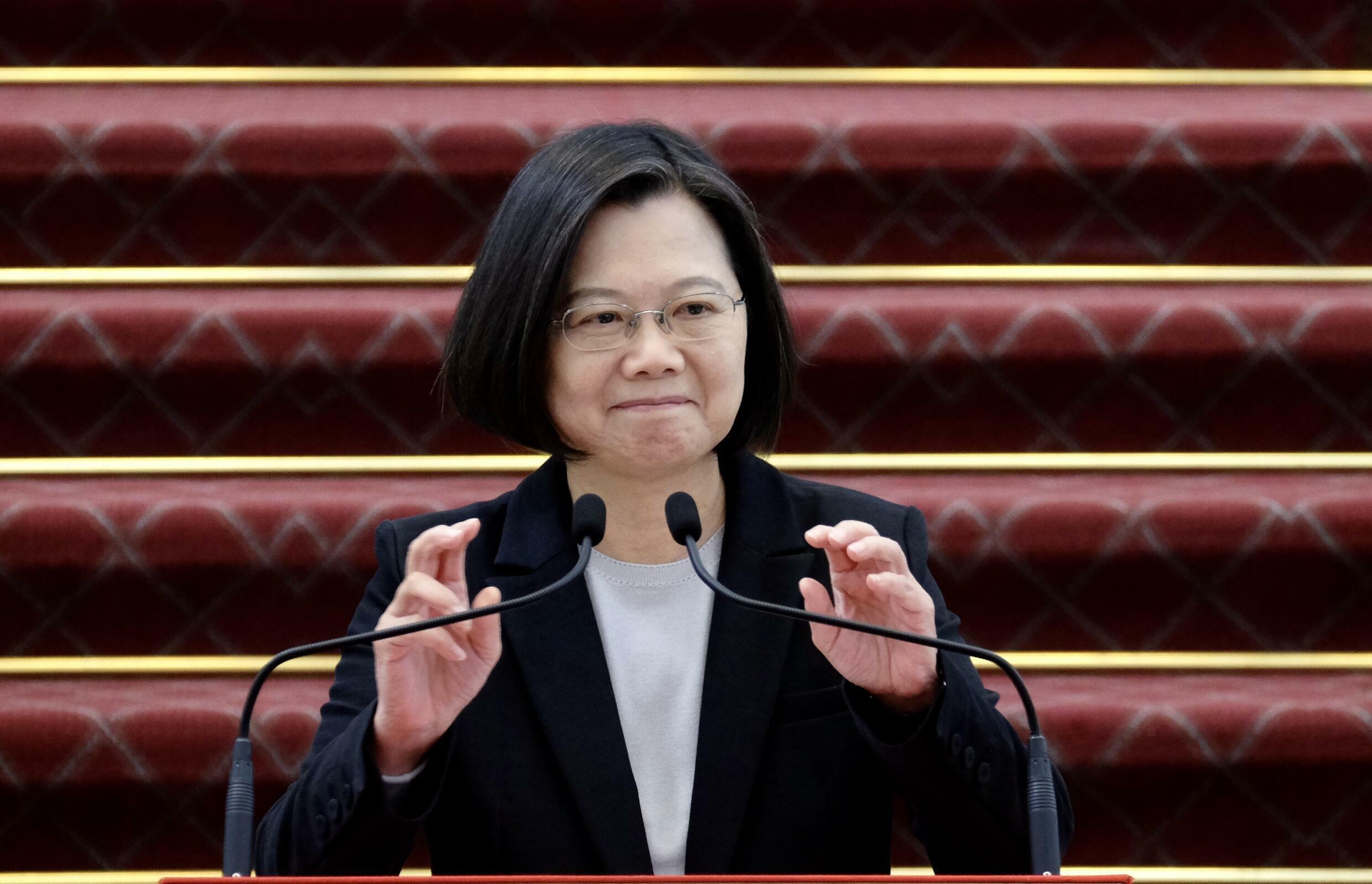 President Tsai Ing-wen of Taiwan, a self-ruled democracy of 23 million people that is claimed by Beijing's leaders