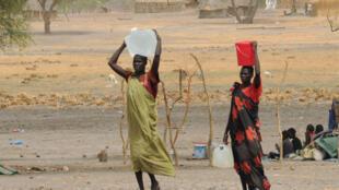 Camp de déplacés près de Kodok au Soudan du Sud, le 17 avril 2017.