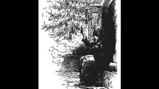 Illustration de «La petite fille aux allumettes», par A.J. Bayes (1889).