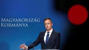 Ngoại trưởng Hungary, Peter Szijjarto. Ảnh ngày 12/09/2018.