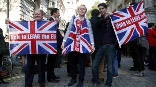 Phe ủng hộ Brexit ăn mừng kết quả trưng cầu cầu dân ý tại Luân Đôn ngày 24/06/2016.