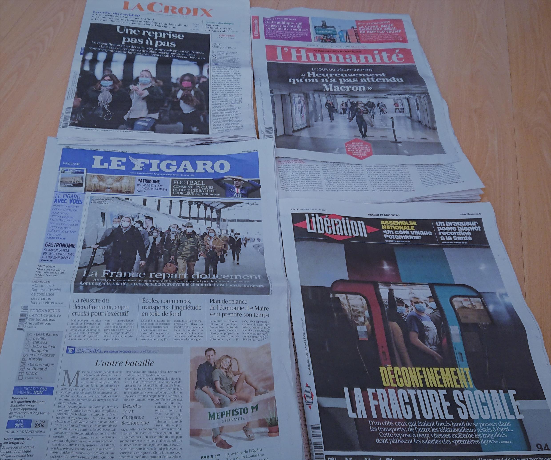 Primeiras páginas diários franceses 12 05 2020