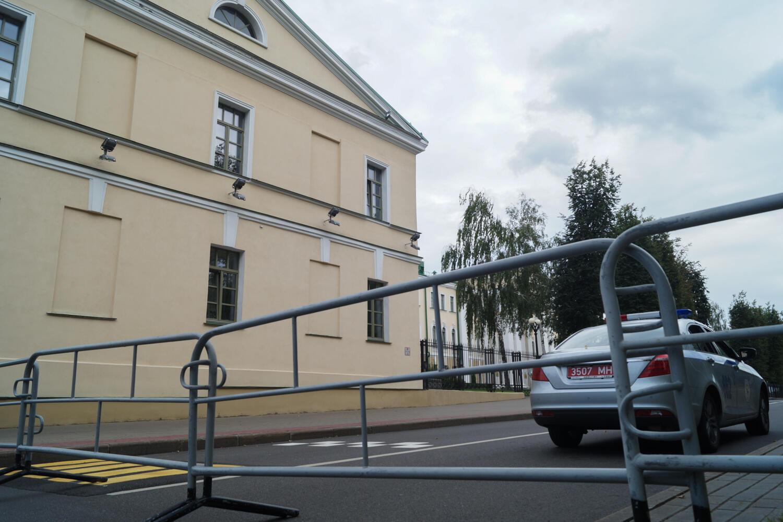 Здание центрального управления СК Беларуси 26 августа 2020.