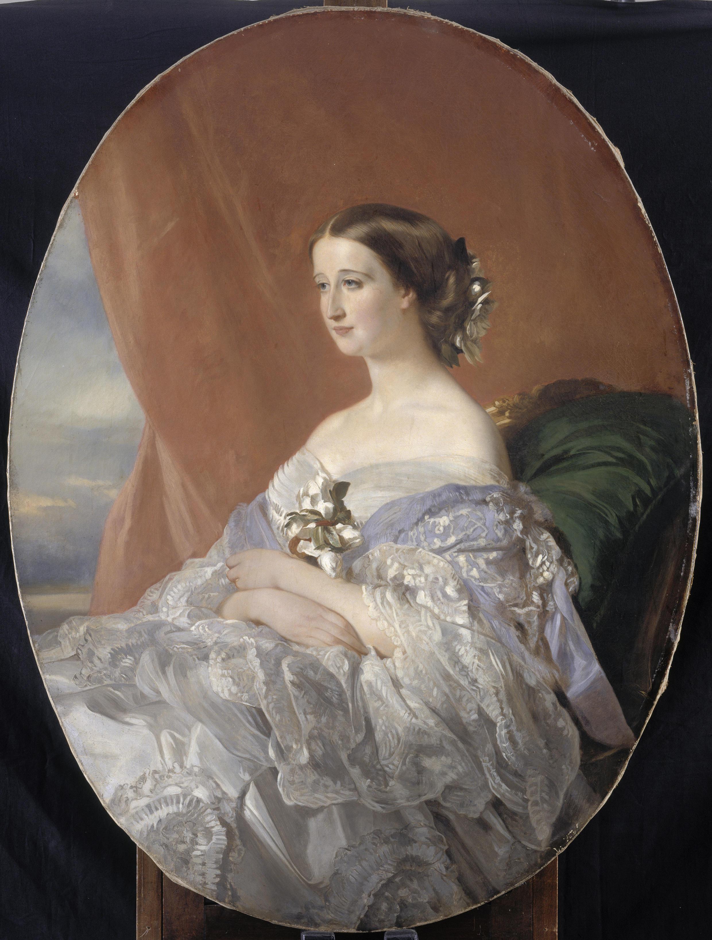 Retrato de la emperatriz Eugenia de Montijo, por Franz Xaver Winterhalter, en 1854.
