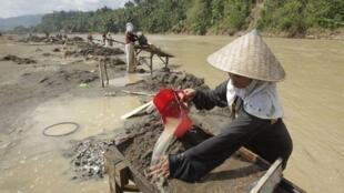 Nạn khai thác vàng bất hợp pháp ở thung lũng Compostela, Philippines là một trong những nguyên nhân gây thảm họa khi có bão Bopha