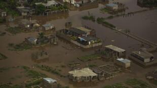 Vue aérienne d'une ville au nord de Haïti, le 10 novembre 2012.