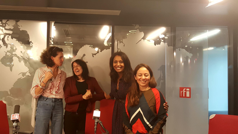 Emmanuelle Bastide et ses invitées du jour : les tchatcheuses Ana Navarro Pedro, Samira Ibrahim et Paola Martinez !