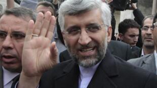 O negociador nuclear iraniano, Saeed Jalili em Istambul, em fevereiro de 2011