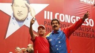 Hugo Carvajal (izquierda) junto al presidente venezolano Nicolás Maduro, el 27 de julio de 2014.