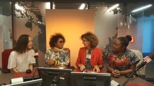 De gauche à droite: Emmanuelle Courrèges, Marie-Jeanne Srebin Thomas, Emmanuelle Bastide, Nelly Wandji.
