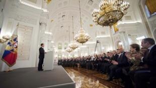Medvedev fez o discurso anual sobre o estado da nação na presença de parlamentares russos convidados ao Kremlim.
