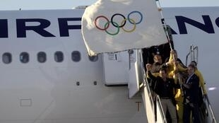 Флаг Олимпийских игр прибыл в Рио-де-Жанейро, 13 августа 2012 года