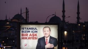 بیلبوردهای اردوغان در استانبول