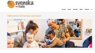 Page d'accueil du site consacré à l'initiative «Svenska med baby».