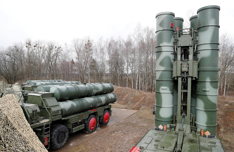 Российский зенитный ракетный комплекс С-400 «Триумф» под Калининградом