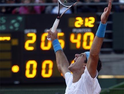 O argentino Juan Martin Del Potro qualificado para final da Copa Davis.