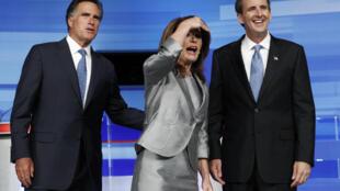 A deputada Michele Bachman, pré-candidata às primárias republicanas, venceu as prévias neste domingo.