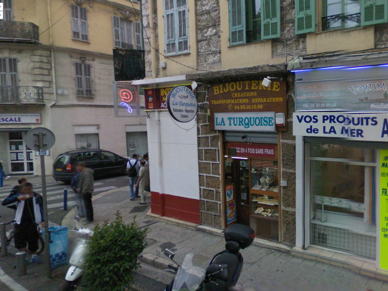 Stephen Turk's jewellery shop in Nice