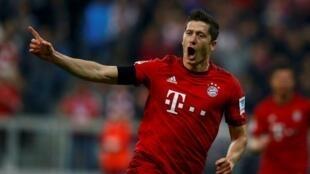 Robert Lewandowski dan wasan gaba na kungiya Bayern Munich