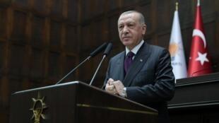 Rais wa Uturuki Recep Tayyip Erdogan huko Ankara, Oktoba 14, 2020.