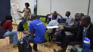 Ateliers organisés par Ushahidi au Kenya.