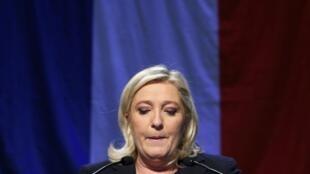 El partido de Marine Le Pen finalmente no conquistó ninguna región en las elecciones regionales francesas, este 13 de diciembre de 2015.