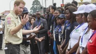 Príncipe britânico Harry na província do Huambo, Angola a 27 de Setembro de 2019