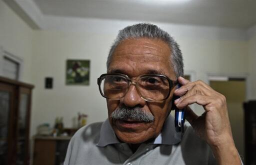 Cuban dissident Arnaldo Ramos, just hours after his release from prison 13 November 2010