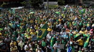 brésil partisans bolsonaro 1er-mai