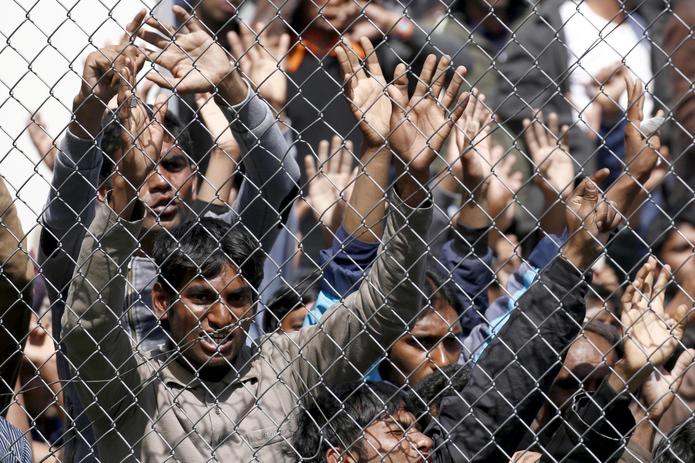 Мигранты на острове Лесбос, Греция