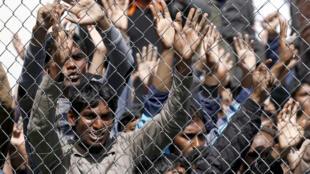 Migrants sur l'ïle de Lesbos, Grèce.