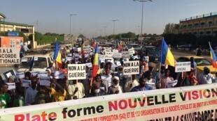 Tchad - manifestation - pro-CMT
